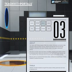 Teach with Portals » About