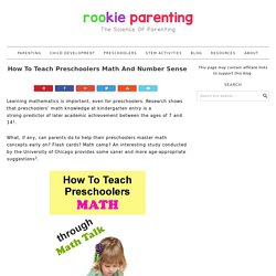How To Teach Preschoolers Math And Number Sense