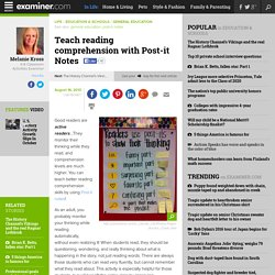 Teach reading comprehension with Post-it Notes