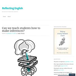 Can we teach students how to make inferences?