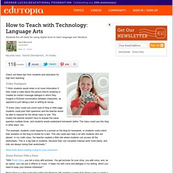 How to Teach with Technology: Language Arts