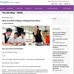 How to teach writing: writing lesson ideas