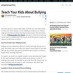Teach Your Kids About Bullying
