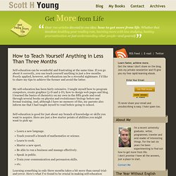 How to Teach Yourself Anything in Less Than Three Months