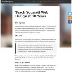 Teach Yourself Web Design in 10 Years