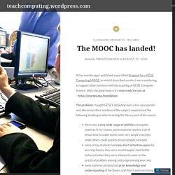 The MOOC has landed! – teachcomputing.wordpress.com