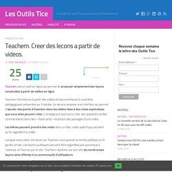 Teachem. Creer des lecons a partir de videos.