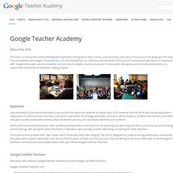 Teacher Academy Resources