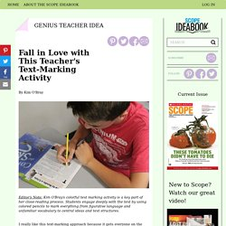 Fall in Love with This Teacher's Text-Marking Activity