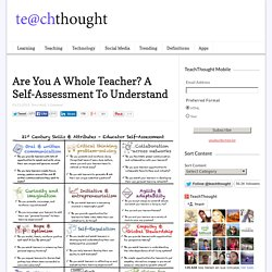 Are You A Whole Teacher? A Self-Assessment To Understand -