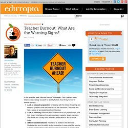 Teacher Burnout: What Are the Warning Signs?