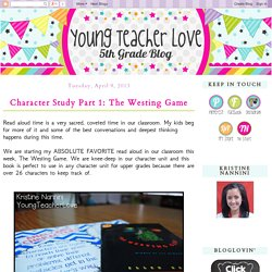 Young Teacher Love: Character Study Part 1: The Westing Game