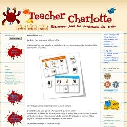 Teacher Charlotte: Le loto des animaux et leur bébé