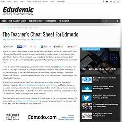 The Teacher's Cheat Sheet For Edmodo