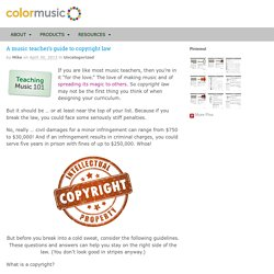 A music teacher's guide to copyright law