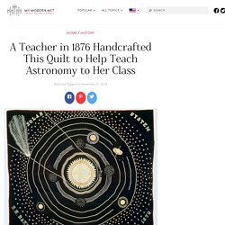 Teacher Crafts Solar System Quilt to Use in Her Astronomy Class