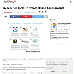 26 Teacher Tools To Create Online Assessments