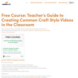 Free Course: Teacher's Guide to Creating Common Craft Style Videos in the Classroom