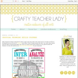Crafty Teacher Lady: Critical Thinking Skills Posters