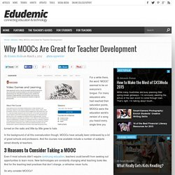 Why MOOCs Are Great for Teacher Development