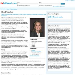Head Teacher Career Guide - Education and Childcare Jobs