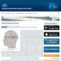 Teacher education in Europe