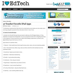 37 Teacher Favorite iPad Apps
