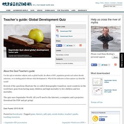 Teacher's guide: Global Development Quiz