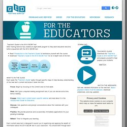 Teacher's Guide to the 2014 GED® Test