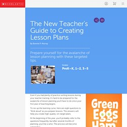 The New Teacher's Guide to Creating Lesson Plans