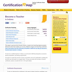 Teacher Certification in Indiana