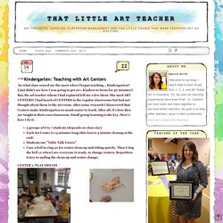 That Little Art Teacher: Kindergarten: Teaching with Art Centers