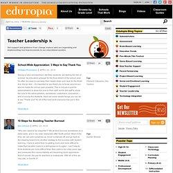 Blogs on Teacher Leadership