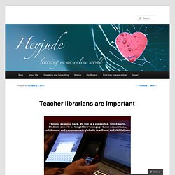 Teacher librarians are important |