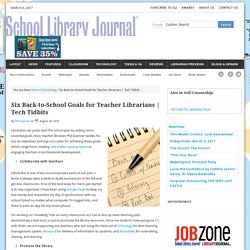 Six Back-to-School Goals for Teacher Librarians