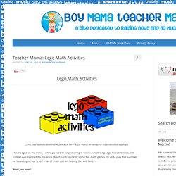 Teacher Mama: Lego Math Activities