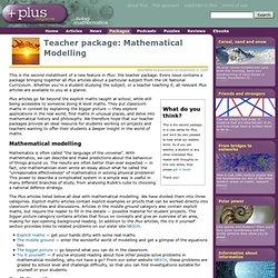 Teacher package: Mathematical Modelling