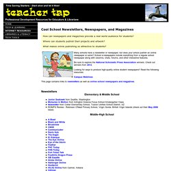 Teacher Tap: Cool School Newspapers and Magazines