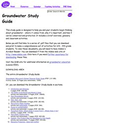 Groundwater Study Guide