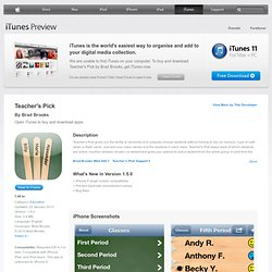 Teacher's Pick for iPhone, iPod touch and iPad on the iTunes App Store