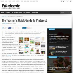 The Teacher's Quick Guide To Pinterest