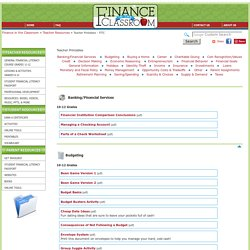 Teacher Printables - FITC