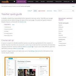 Teacher quick guide