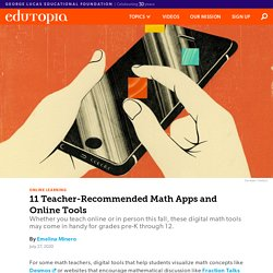 11 Teacher-Recommended PreK-12 Math Apps and Online Tools