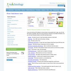 Teacher Resource Guides on Science Topics