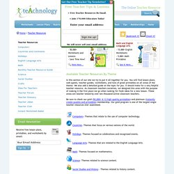 Teacher Resources By Theme