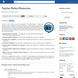 Teacher Rollout Resources