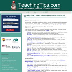 Teacher Resources and Tools