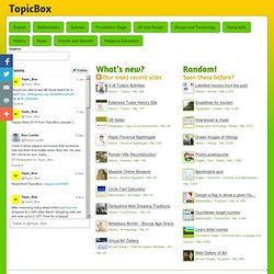 Resources from TopicBox.net - free teacher resources for every UK primary school teaching topic