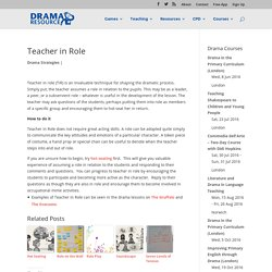 Teacher in Role